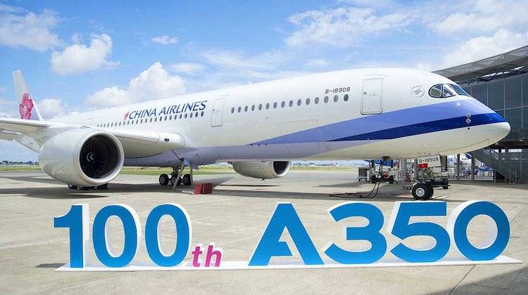 A350 XWB ke-100 untuk China Airlines