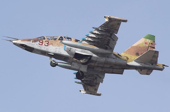 Blar! Su-25 Rusia Ditembak Jatuh MANPADS di Suriah