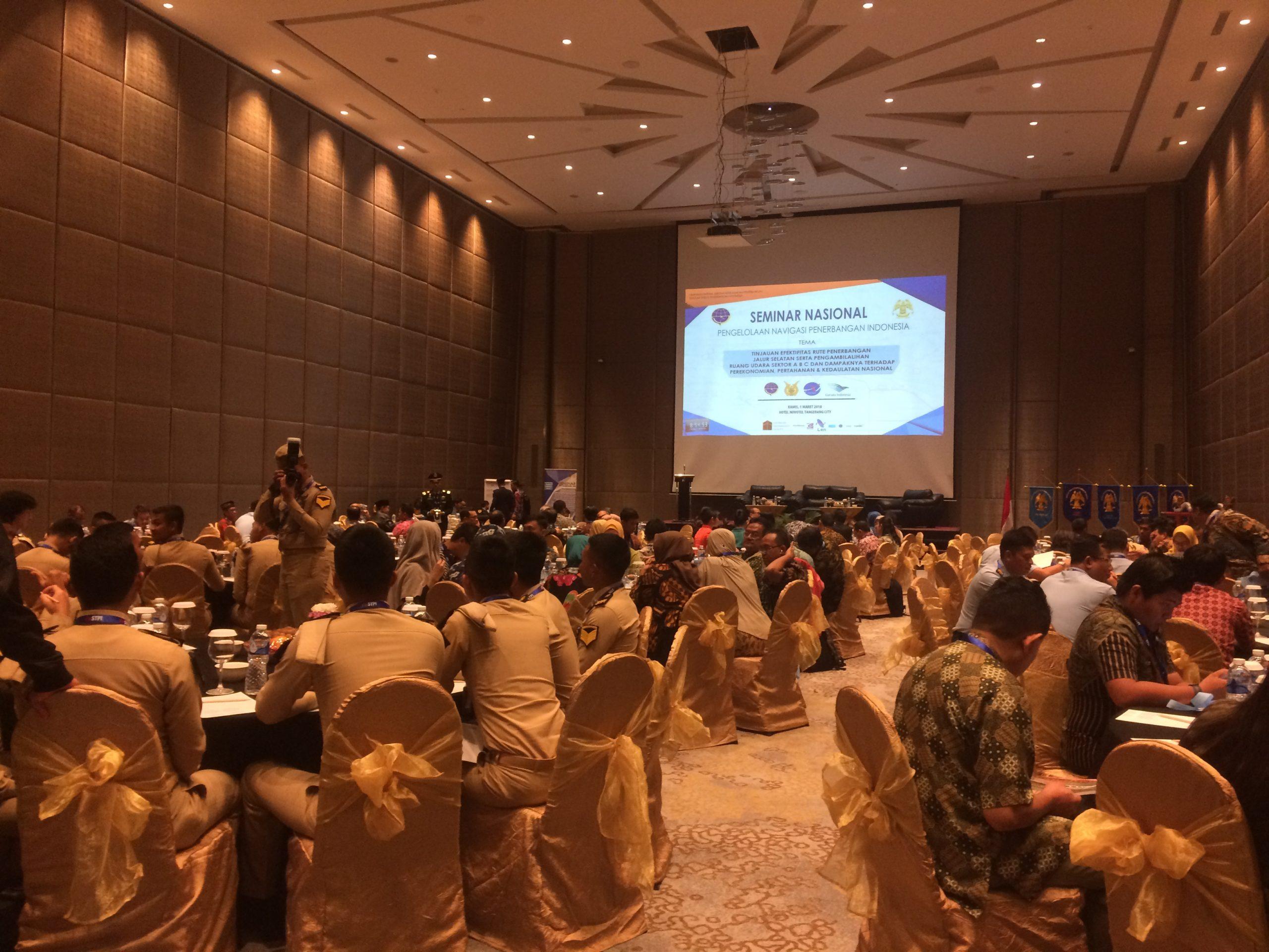 Gelar Seminar Nasional, Himpunan Taruna Jurusan Kespen STPI Bahas Pengambilan FIR A B C
