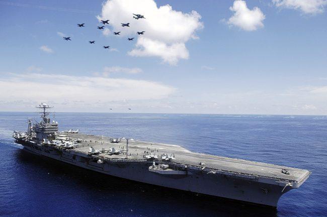 AL AS Coba Kendalikan Pesawat di Kapal Induk Secara Otomatis