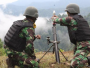 Batalyon Komando 469 Paskhas Latihan Menembak Lintas Datar dan Lengkung