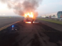 Towing Car Lion Air Group Terbakar Saat Tarik Armada A320 di Cengkareng