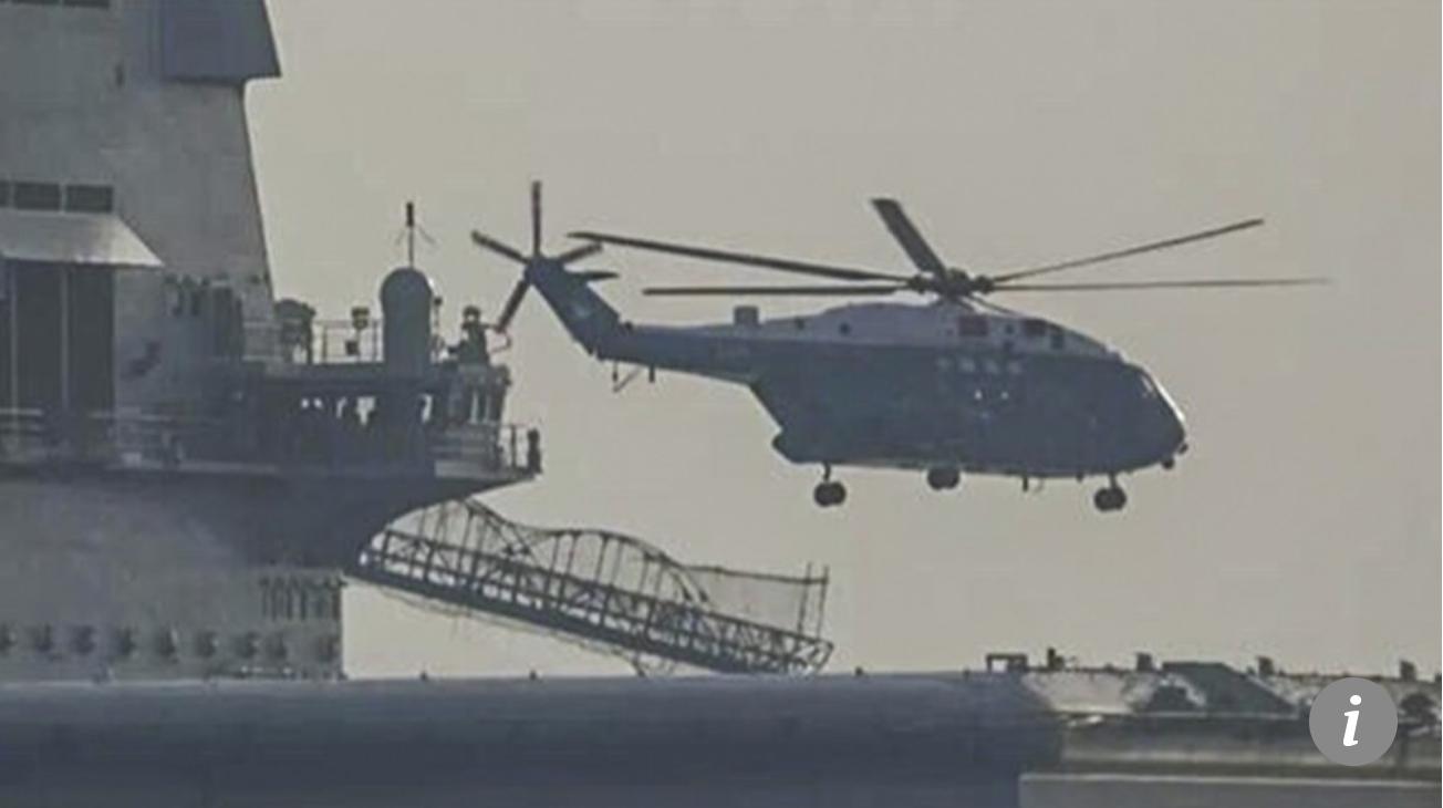 Heli Angkut Z-8 Tertangkap Kamera Mondar-mandir ke Kapal Induk Liaoning