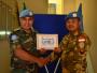 Baru Sebelas Minggu Bertugas, Personel Yonkomposit TNI Konga XXXV-D Raih Penghargaan dari PBB