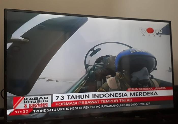 17 Agustus, 17 Jet Tempur TNI AU Melintas di Atas Istana Merdeka