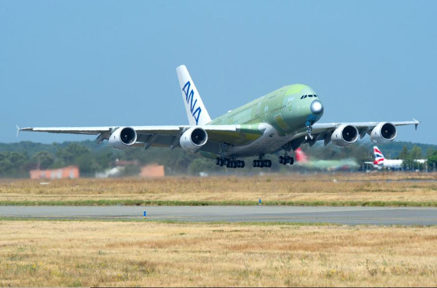 A380 Pesanan ANA Sukses Terbang Perdana, Awal 2019 Siap Berdinas