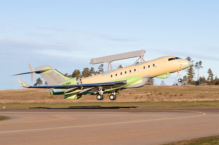Dipesan UEA, Pesawat Kedua Saab GlobalEye AEW&C Mengudara Perdana