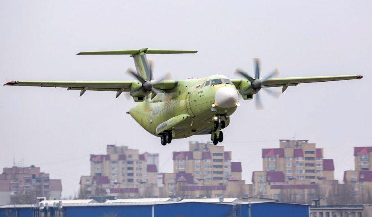Pesawat Angkut Militer Rusia Il-112V Sukses Terbang Perdana