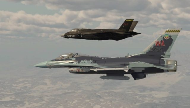 F-16 and F-35A