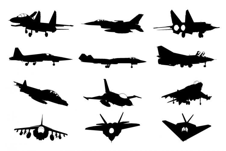Siluet pesawat tempur
