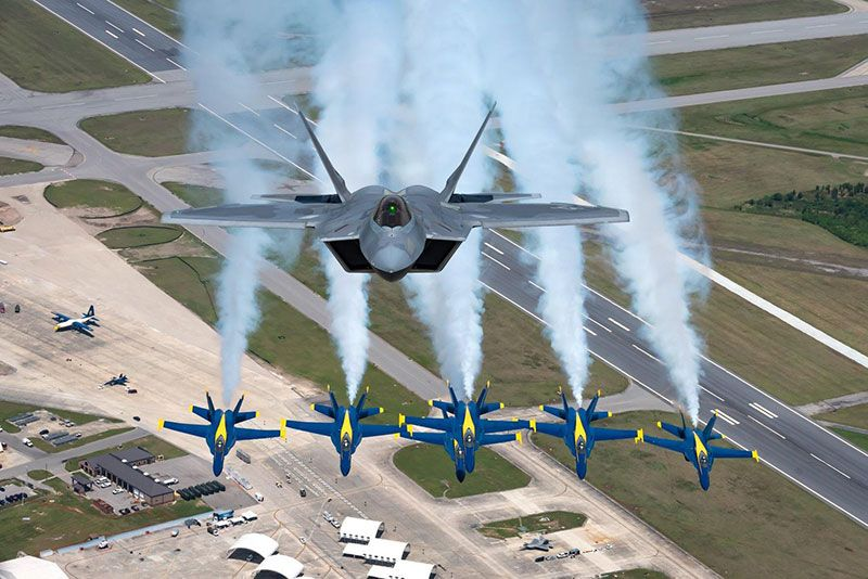 F-22 and Blue Angels