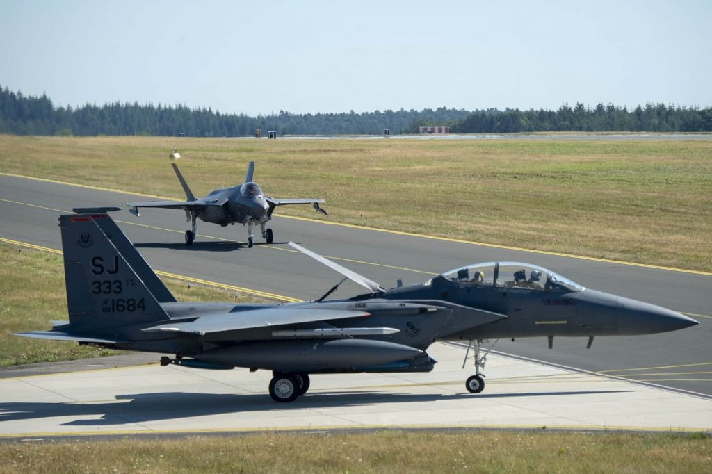 F-35A and F-15E
