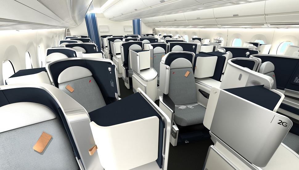 kelas-bisnis-A350-Air-France