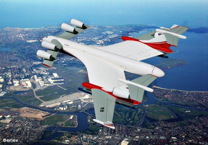 Beriev Sedang Membangun Pesawat Amfibi Futuristik Berbobot 2.500 Ton