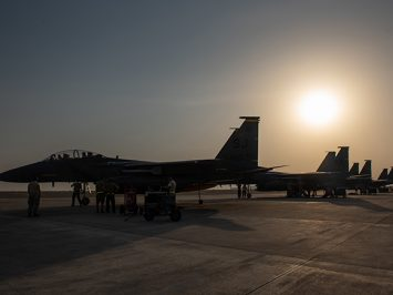 F-15E Strike Eagles at ADAB