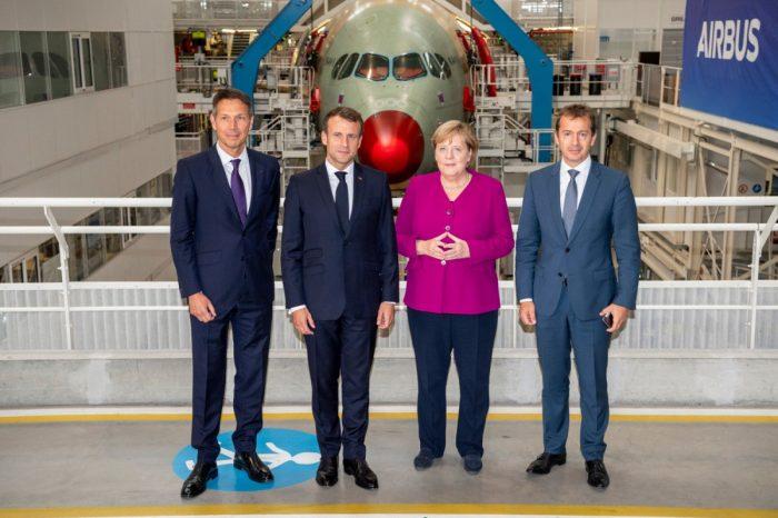 Merkel-Macron-Airbus-toulouse