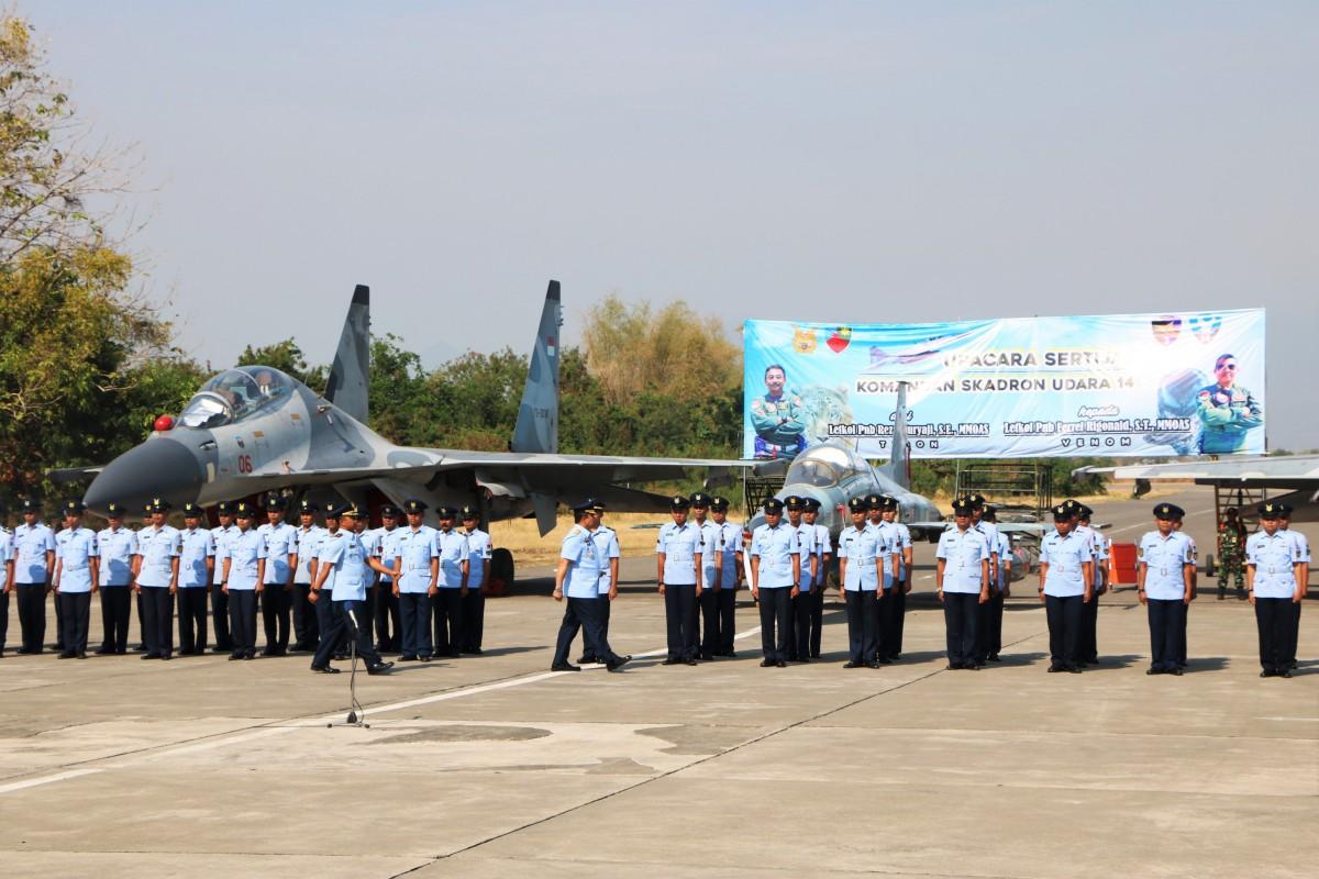 Terlihat Penampakan Sukhoi dan F-5 di Sertijab Komandan Skadron Udara 14