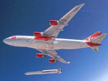 747-400 Cosmic Girl luncurkan LauncherOne