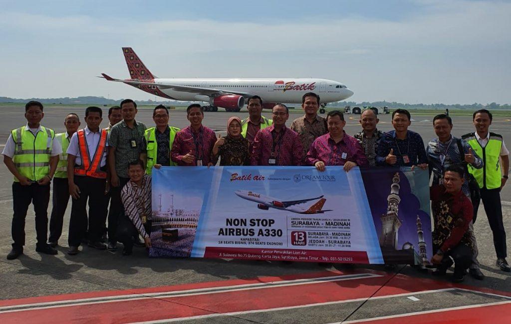 Penerbangan umroh Surabaya - Madinah