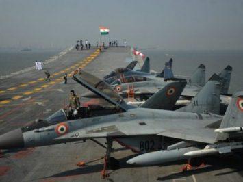 MiGs on INS Vikramaditya