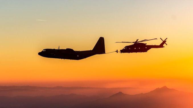 Terbang malam 6 jam, AU Italia tunjukkan kapabilitas helikopter HH-101A