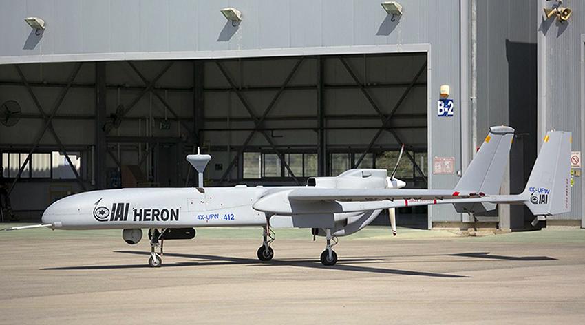 Israel perkenalkan drone intai strategis Heron Mk II di SA 2020
