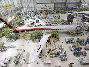 Mitsubishi MRJ at MHI facility