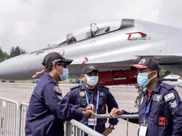 Su-30MKM di Singapore Airshow 2020