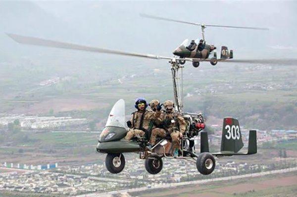 Militer China uji coba Lie Ying, Gyrocopter bercadik dan berawak tiga