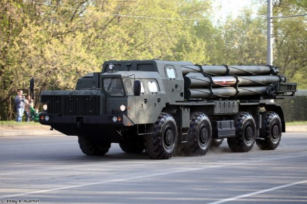 Artileri Armada Baltik Rusia terima peluncur roket terbaru Smerch-M