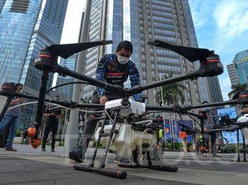 Kerahkan drone, Dispotdirga bantu cegah penyebaran COVID-19