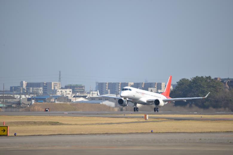 Pesawat konfigurasi akhir Mitsubishi SpaceJet M90 telah mengudara