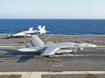 Super Hornet 1000th landing on CVN 78