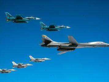 B-1B USAF danF-16 serta F-2 JASDF