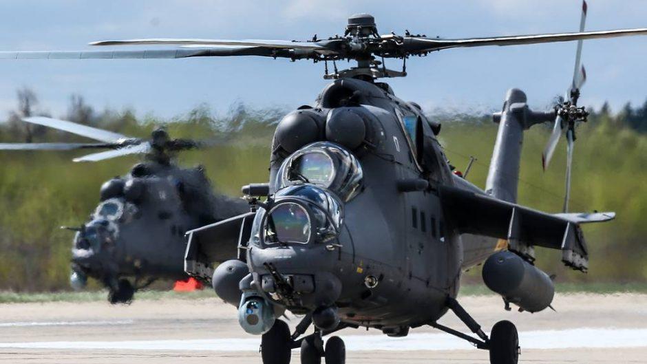 Kecanggihan helikopter serang Mi-35M dicoba di Serbia