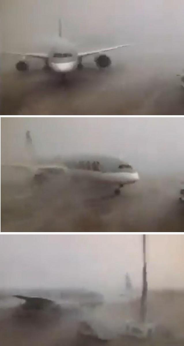 787 hits A350