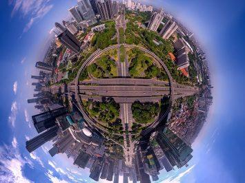 Simpang Semanggi Jakarta dalam bidikan kamera Tim Drone FASI saat Lebaran H+1