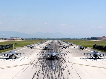 F-16s elephant walk_aviano