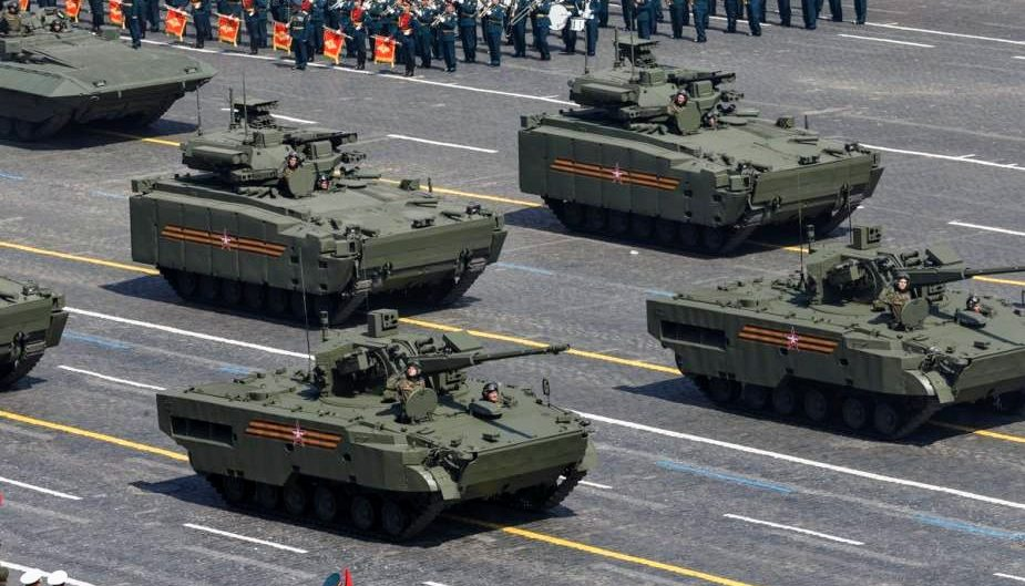 Penampakan tiga ranpur baru Rusia di Parade Hari Kemenangan
