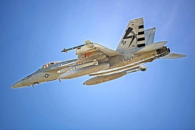 Super Hornet with AARGM-ER captive missile