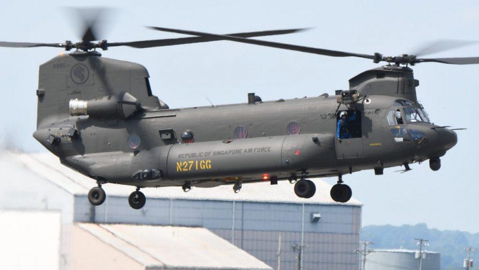 Heli CH-47F Chinook pesanan Singapura, sudah terbang di pabriknya
