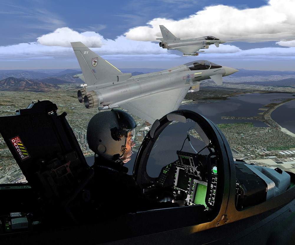 Simulator Typhoon Qatar