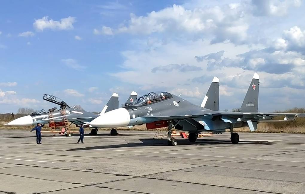 Baltic Flee Su-30SM and Su-27