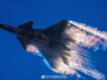 Chinese J-20 fighter aircraft