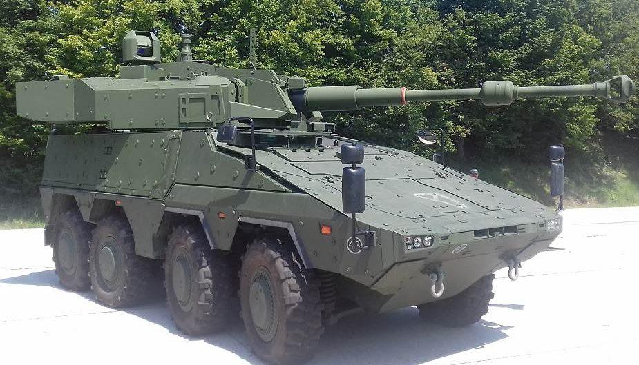 Mengenal panser kanon Boxer 8X8 berturret Cockerill 3105