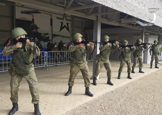 Latihan Menembak Kemhan Rusia
