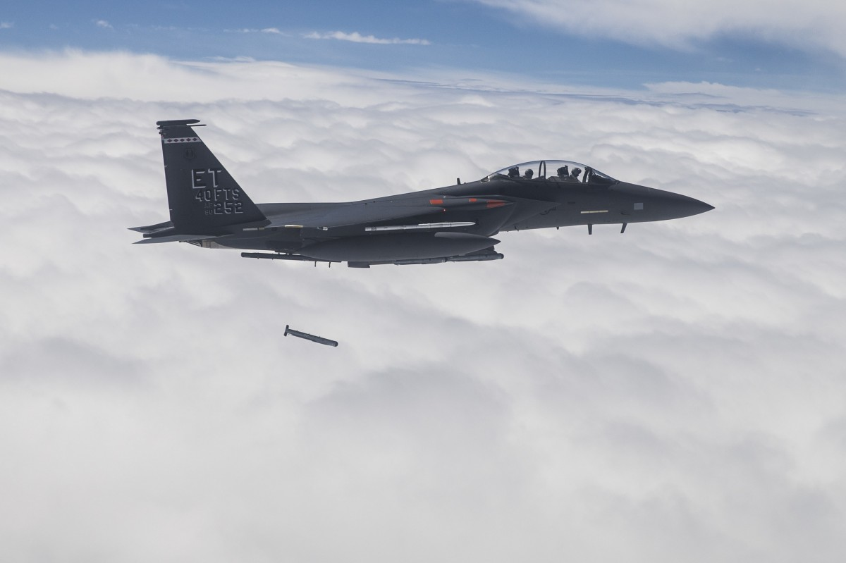 F-15E released stormbreaker bomb