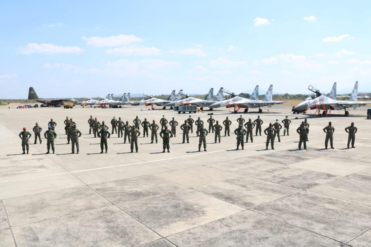 Skadron Udara 11 kembali ke Lanud Sultan Hasanuddin