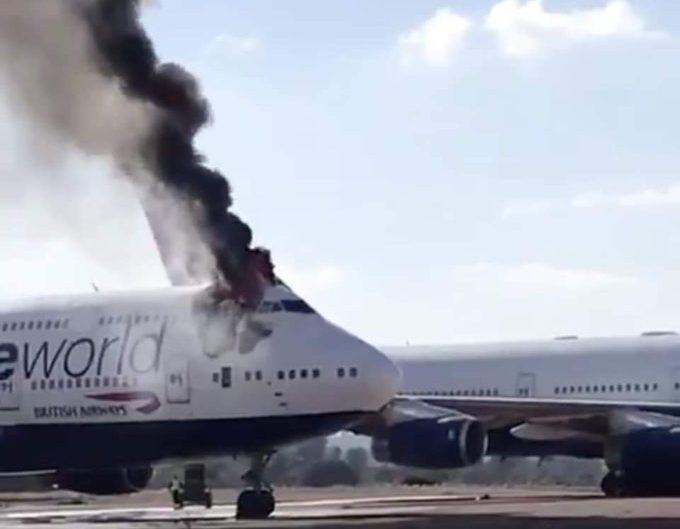 Sudah dipensiunkan, Boeing 747 British Airways terbakar di Spanyol