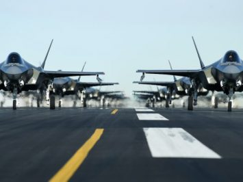 F-35s elephant walk